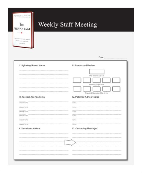 meeting agenda examples samples