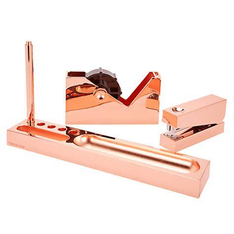 tom dixon desk accessories buy tom dixon cube copper desk tidy tray john lewis
