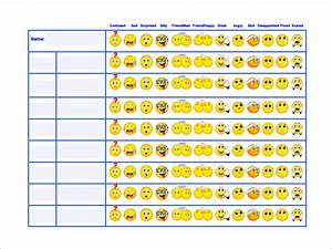 Behavior chart template 12 free sample example format for Smiley face behavior chart template