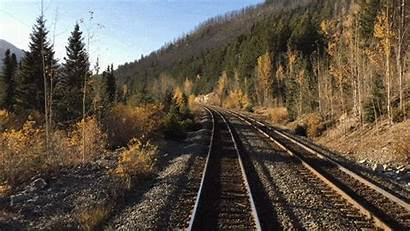 Train Rail Rockies Railroad Tracks Canada Western
