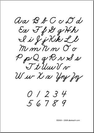 chart cursive alphabet aa zz zb style font upper