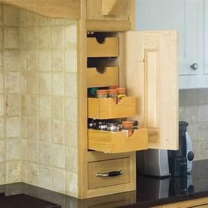 Space-saving kitchen storage Kitchen design Decorating