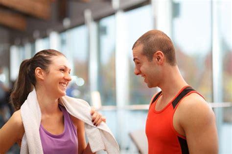 Girl Talking To Guy At Gym