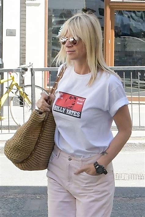 Zoe Ball looks downcast as she arrives at BBC Radio 2 ...