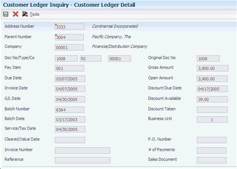 customer details form working with customer ledger information