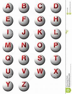 golf balls with abc alphabet stock illustration image With golf alphabet letters