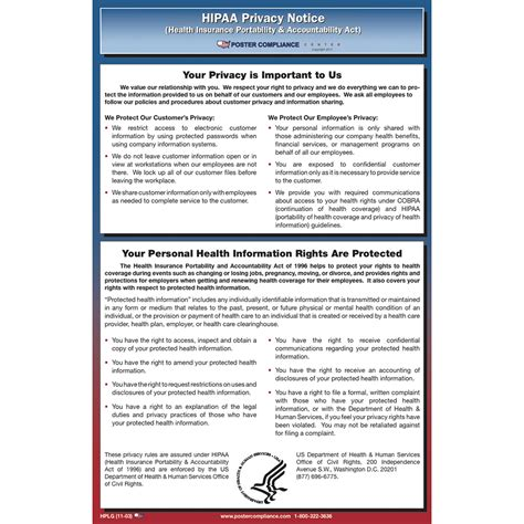 This guidance remains in effect only to the extent that it is consistent with the court's order in ciox health, llc v. HIPAA Privacy Notice Poster 2018 | Poster Compliance Center