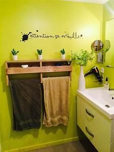 Seche Serviette Salle De Bain : id e d coration salle de bain s che serviette en bois de ~ Edinachiropracticcenter.com Idées de Décoration