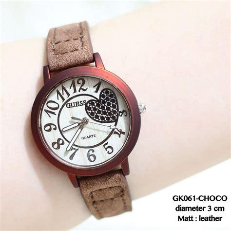 Jam Tangan Guess Kulit Black jual beli jam tangan wanita unik quot guess fossil