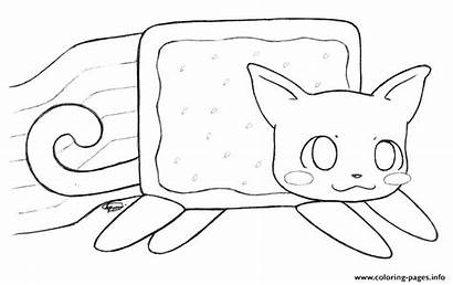 Coloring Nyan Cat Pages Unicorn Animal Kitty