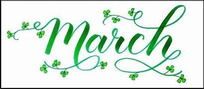March Calendar Newsletter Lettering 1st Monday Menu