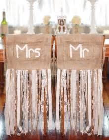 lace chair sashes 55 chic rustic burlap and lace wedding ideas deer pearl