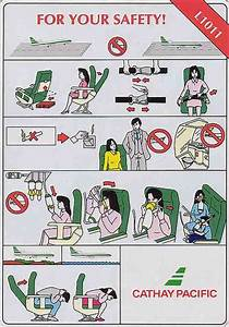 25 Best Images About Airplane Safety Card On Pinterest