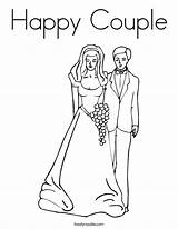 Coloring Pages Couple Wedding Happy Bride Groom Married Print Anniversary Rapunzel Printable Dad Mom Precious Flynn Moments Twistynoodle Getcolorings Cake sketch template