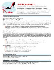 shoe sales assistant resume shoe sales assistant resume