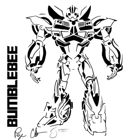 bumblebee coloring pages transformer robot in disguise bumblebee coloring pages