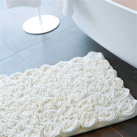 Buy Aquanova Rose Bath Mat Ivory 70x120cm Amara