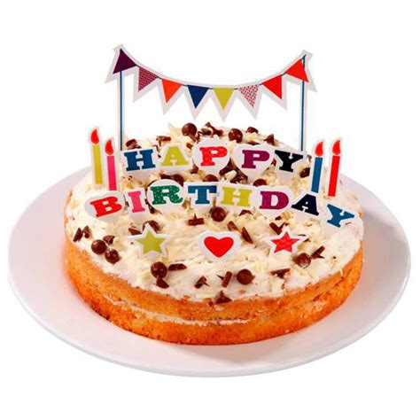 deco gateau anniversaire happy birthday pop