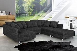 Sofaüberwurf Für Xxl Sofa : wohnlandschaft sofa couch ecksofa eckcouch in gewebestoff schwarz minsk xxl ebay ~ Bigdaddyawards.com Haus und Dekorationen