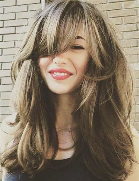 best long hair with bangs looks for women