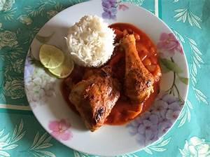 tandoori hähnchen mit basmatireis und letscho rezept