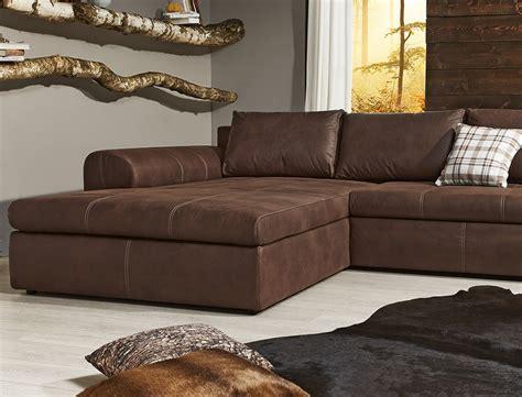 wohnlandschaft  sofa braun couch polsterecke