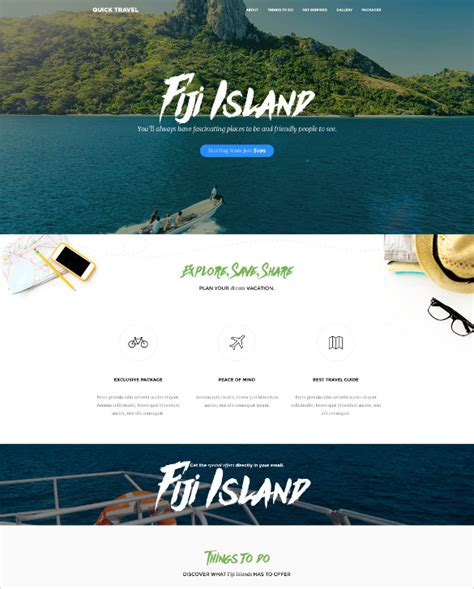 Tourism Landing Page Templates by Best Premium Travel Agency Templates Top Free Themes For