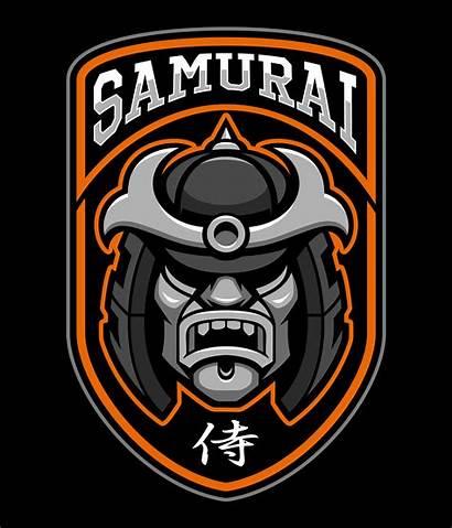 Samurai Warrior Badge Vector Helmet Arts Vectors