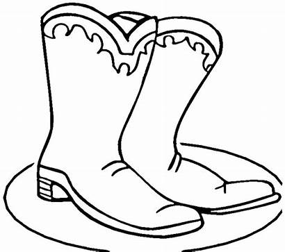 Boots Coloring Cowboy Winter Boot Pages Printable