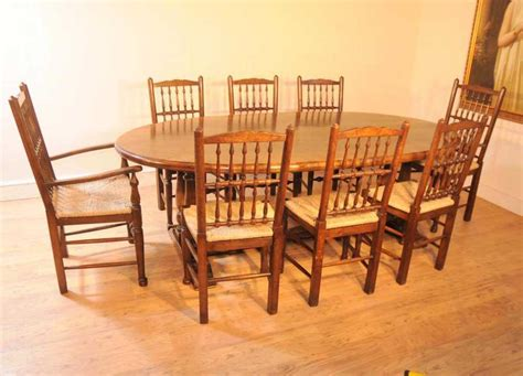 oak kitchen table set oak kitchen refectory table dining set spindleback chairs