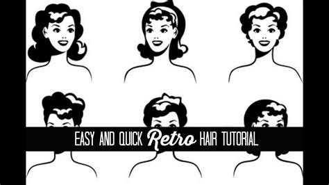 easy retro hair tutorial  glamorous housewife beauty