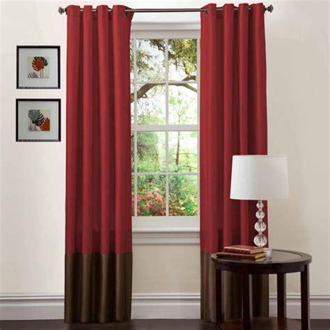 prima red chocolate window curtains pair 54 quot x 84