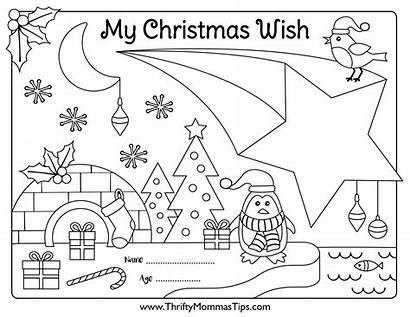Wish Activity Printable Colouring Links