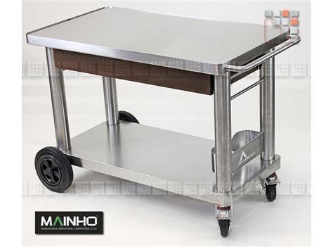 plancha de cuisine chariot plancha inox ch 90 et ch 120 mainho