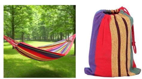 hammock in a bag portable hanging hammock only 16 99 shipped