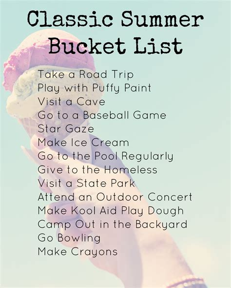 summer bucket list  remembering  summer fun