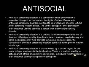 Antisocial powerpoint