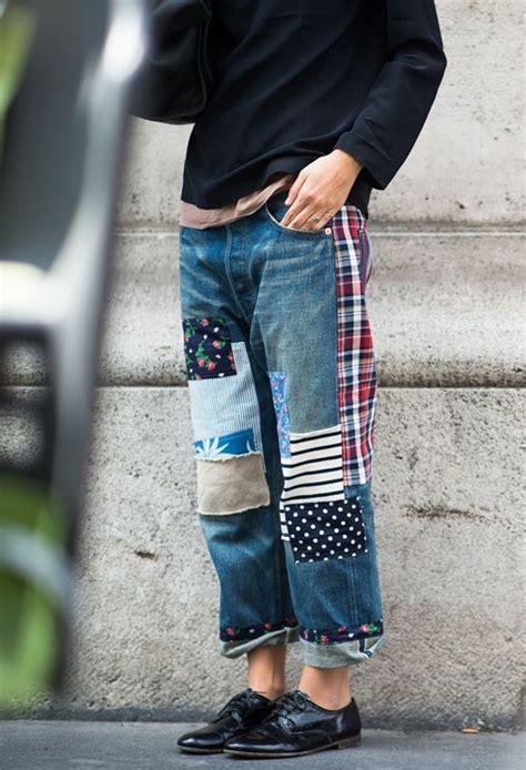 ways  follow  patchwork jeans trend pretty designs