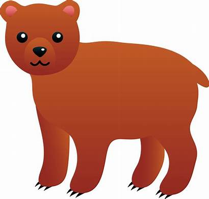 Bear Clip Brown Clipart Cartoon Grizzly Cub