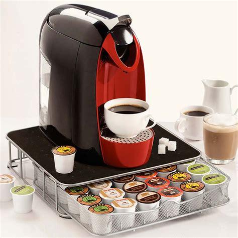 support machine  cafe avec tiroir de rangement pour
