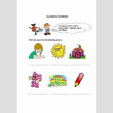 English Worksheets Nouns Naming Words Worksheets