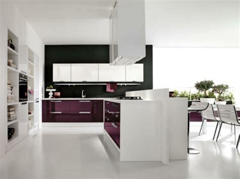 cuisine blanc et violet 115 exemples de cuisines équipées et ultra modernes partie 1