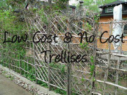 Low Garden Trellis by Low Cost No Cost Garden Trellis Ideas Gardens