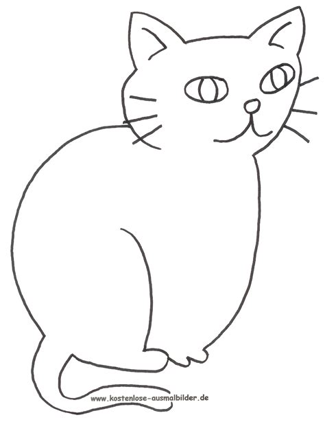 ausmalbilder katze tiere zum ausmalen malvorlagen katzen