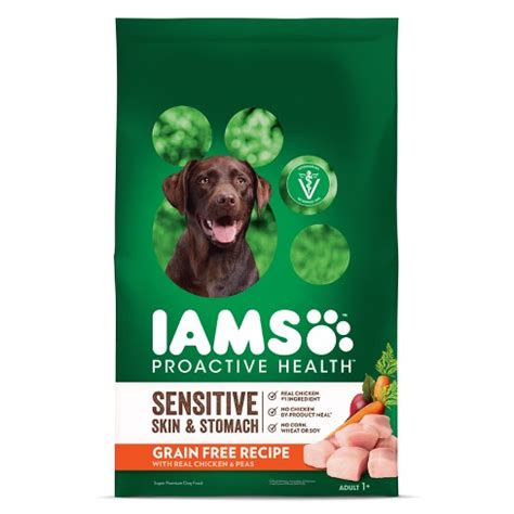 iams proactive health sensitive skin stomach grain