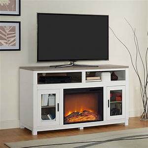 electric fireplace tv stand in white 1774296com With home entertainment fireplace living room furniture