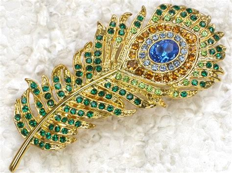 Creative Gold Peacock Large Wall Clock Metal Living Room: 1000+ Images About Peacock Jewelry On Pinterest