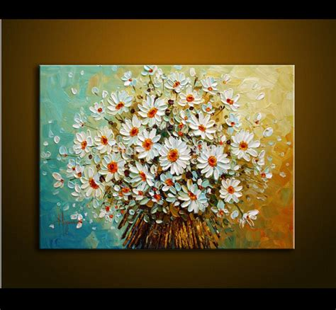 aliexpress com buy modern painting palette knife paint white colorful flowers