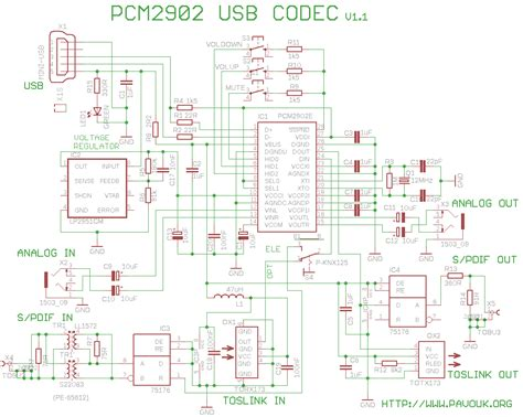 usb sound card with pcm2902 circuit wiring diagrams