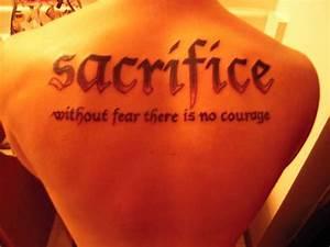 Image Gallery sacrifice tattoo
